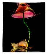 Red Umbrella Fleece Blanket