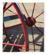 Red Waggon Wheel Fleece Blanket