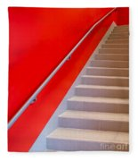 Red Walls Staircase Fleece Blanket