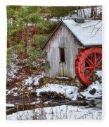 Red Wheel Fleece Blanket