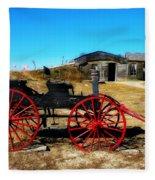 Red Wheels Fleece Blanket