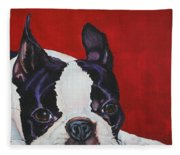 Red White And Black Fleece Blanket