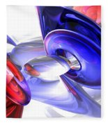 Red White And Blue Abstract Fleece Blanket