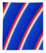 Red White And Blue Fleece Blanket