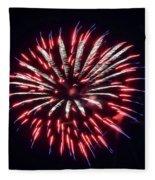 Red White And Blue Fireworks Fleece Blanket