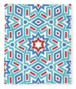 Red White And Blue Fireworks Pattern- Art By Linda Woods Fleece Blanket
