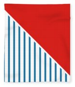 Red White And Blue Triangles 2 Fleece Blanket by Linda Woods