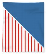 Red White And Blue Triangles Fleece Blanket by Linda Woods