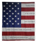 Red White And True Fleece Blanket