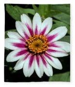 Red White And Yellow Flower Fleece Blanket