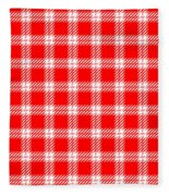 Red White Tartan Fleece Blanket