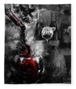 Red Wine 01 Fleece Blanket