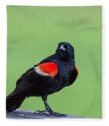 Red Wing Blackbird Fleece Blanket