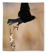 Red-winged Takeoff Fleece Blanket