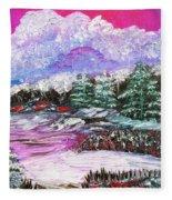 Red Winter Berries Fleece Blanket