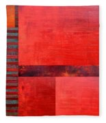 Red With Orange 2.0 Fleece Blanket
