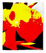 Red Yellow Abstract Fleece Blanket