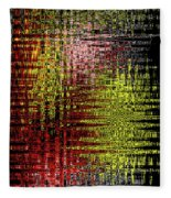 Red Yellow White Black Abstract Fleece Blanket