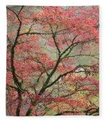 Red Zen Fleece Blanket