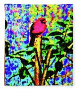 Redbird Dreaming About Why Love Is Always Important Fleece Blanket