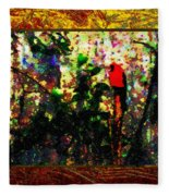 Redbird Sifting Beauty Out Of Ashes Fleece Blanket
