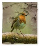 Redbreast Bird Fleece Blanket