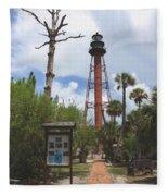Redbrick Path To The Lighthouse Fleece Blanket