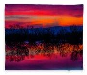 Reddening Sunset Fleece Blanket