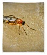 Redfly With Black Eyes Fleece Blanket