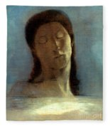 Redon: Closed Eyes, 1890 Fleece Blanket