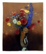 Redon: Wild Flowers, C1912 Fleece Blanket