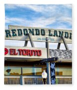 Redondo Beach Pier Closeup Fleece Blanket