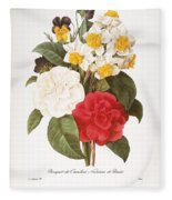 Redoute: Bouquet, 1833 Fleece Blanket