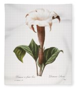 Redoute: Datura, 1833 Fleece Blanket
