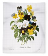 Redoute: Pansy, 1833 Fleece Blanket