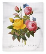 Redoute: Roses, 1833 Fleece Blanket