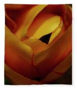 Reds And Oranges Fleece Blanket