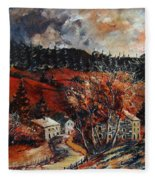 Redu Village Belgium Fleece Blanket