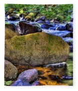 Reeder Creek From Under The Bridge Fleece Blanket