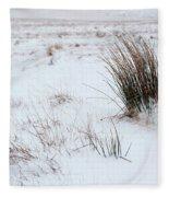 Reeds And Snow Fleece Blanket