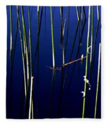 Reeds Of Reflection Fleece Blanket