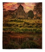 Reflected In The Stour Fleece Blanket