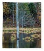 Reflected Tree Fleece Blanket