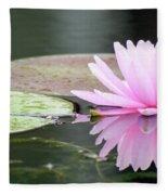 Reflected Water Lily Fleece Blanket