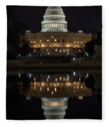Reflecting At The Capitol Fleece Blanket