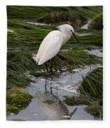 Reflecting At The Tide Pool Fleece Blanket