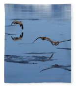 Reflecting Geese Fleece Blanket
