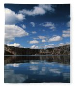 Reflecting On Crater Lake Fleece Blanket