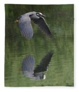 Reflecting On Flight Fleece Blanket