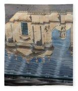 Reflecting On Noto Cathedral Saint Nicholas Of Myra - Sicily Italy Fleece Blanket